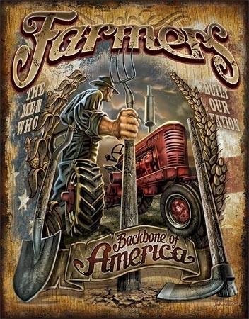 Farmers - Backbone Metal Sign