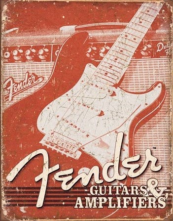 Fender - Weathered G&A Metal Sign
