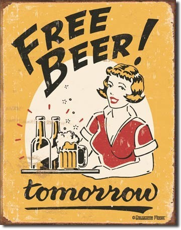 FREE BEER Metal Sign