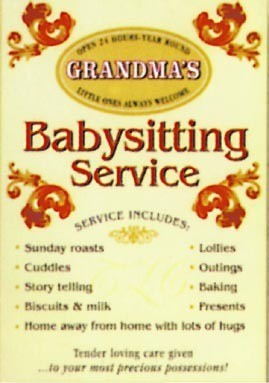 GRANDMA'S - Babysitting service Metal Sign