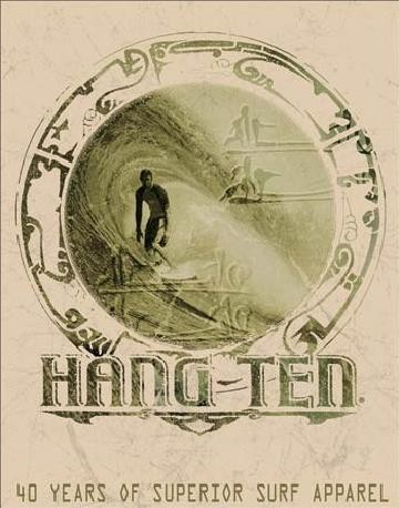HANG TEN - good fortune Metal Sign