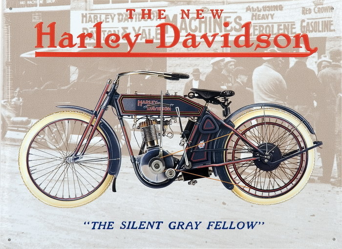 HARLEJ DAVIDSON - old grey fellow Metal Sign