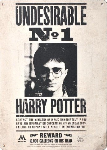 Harry Potter - Undesirable No 1 Metal Sign