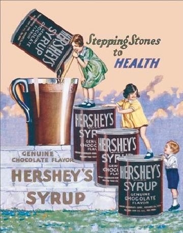 HERSHEY'S SYRUP Metal Sign