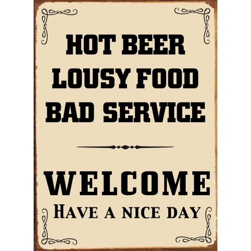 HOT BEER Metal Sign