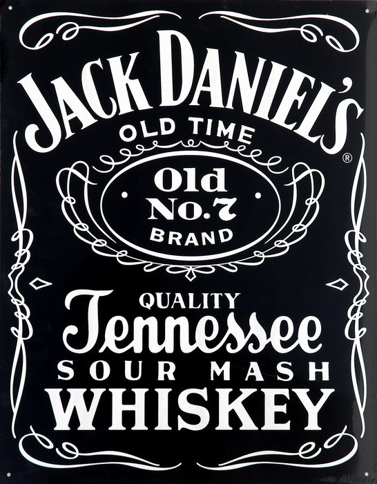 JACK DANIEL'S  BLACK Metal Sign