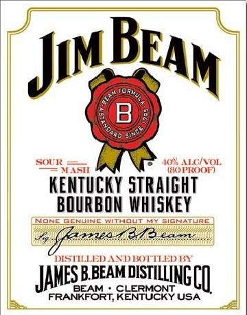 JIM BEAM - white label Metal Sign