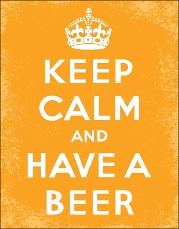 Keep Calm - Beer Metal Sign