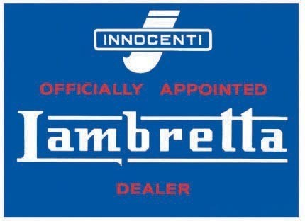 LAMBRETTA DEALER Metal Sign