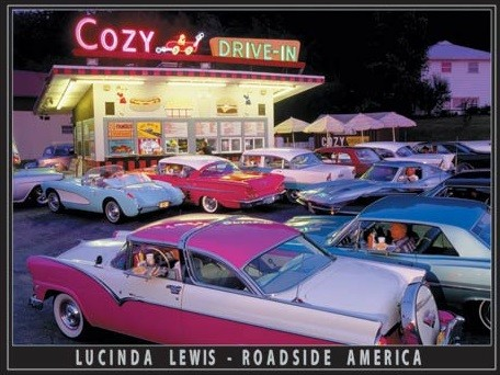 Lewis - Cozy Drive In Metal Sign