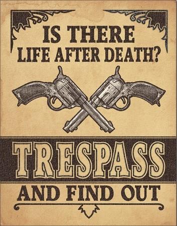 Life After Death? Metal Sign