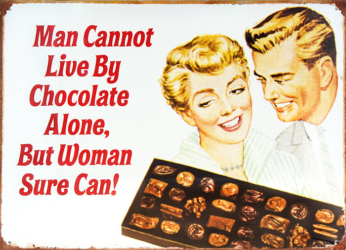 MAN CANNOT LIVE Metal Sign