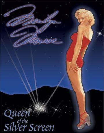 MARILYN MONROE - Queen of Screen Metal Sign