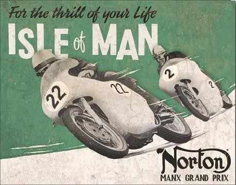 NORTON - Isle of Man Metal Sign