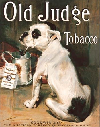 Old Judge Tobacco Metal Sign