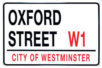 OXFORD STREET Metal Sign