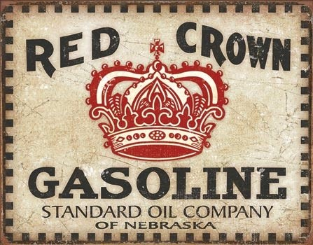 Red Crown - Checker Metal Sign