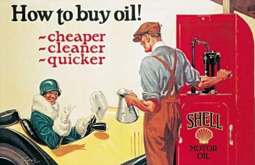 SHELL HOW TO BUY OIL Metal Sign