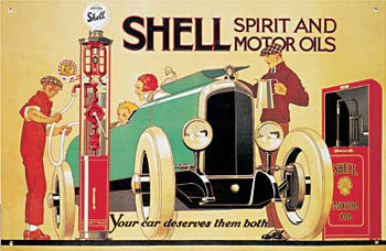 SHELL PUMP Metal Sign