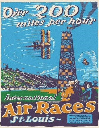 St. Louis Air Races Metal Sign