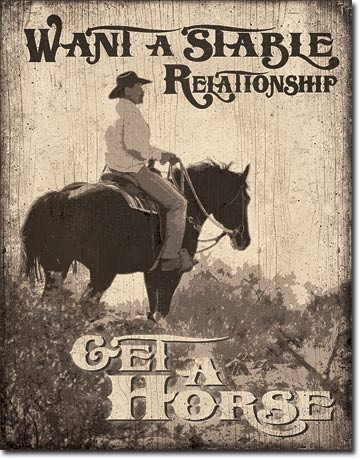 Stable Relationship Metal Sign