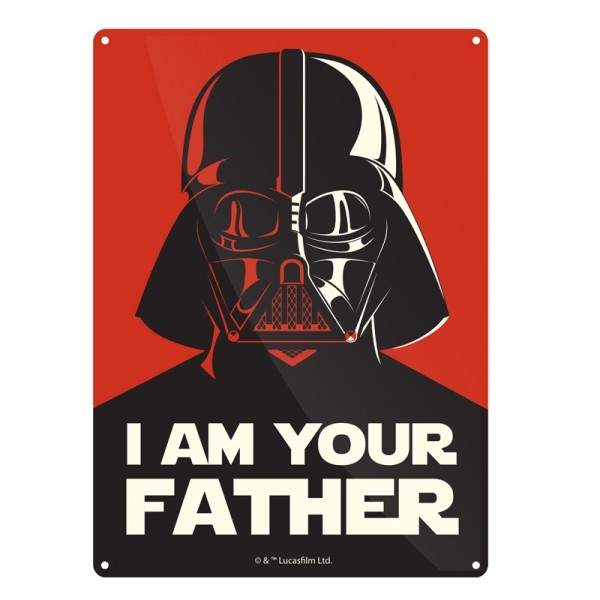 Star Wars - I Am Your Father Metal Sign