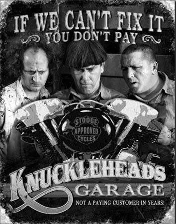 Stooges - Garage Metal Sign