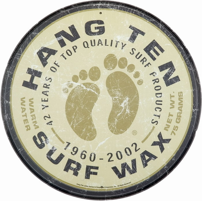 SURF WAX Metal Sign