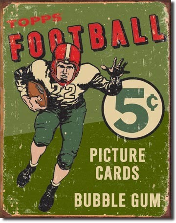 TOPPS 1956 FOOTBALL Metal Sign