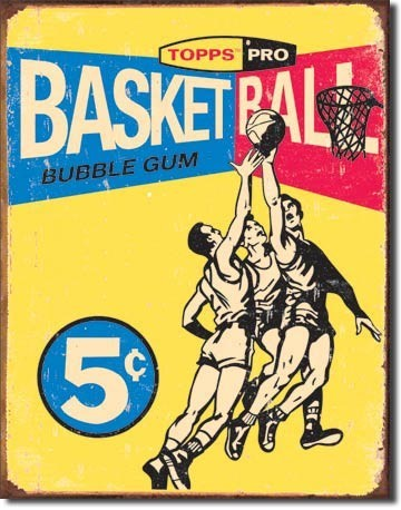 TOPPS - 1957 basketball Metal Sign