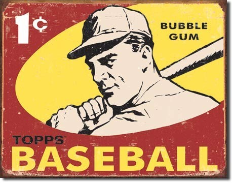 TOPPS - 1959 baseball Metal Sign