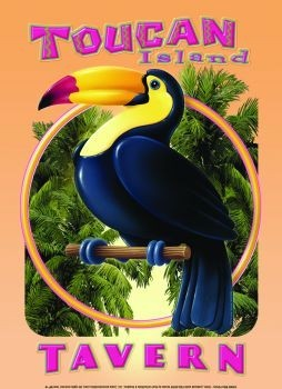 TOUCAN TAVERN Metal Sign
