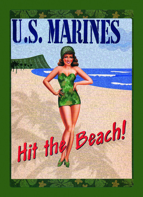 U.S. MARINES Metal Sign