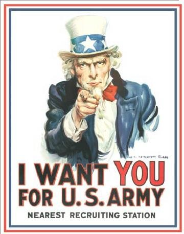 UNCLE SAM - i want you Metal Sign