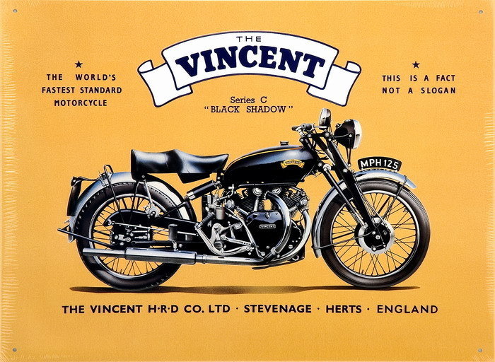 VINCENT BLACK SHADOW Tin Signs, Metal Signs | Sold at EuroPosters