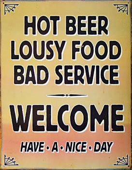 WELCOME Metal Sign