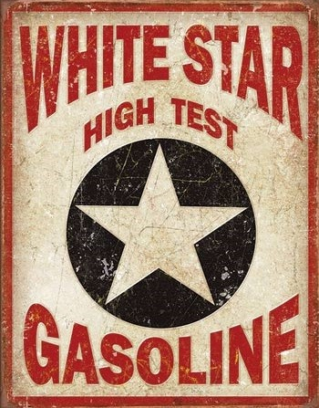 White Star Gasoline Metal Sign