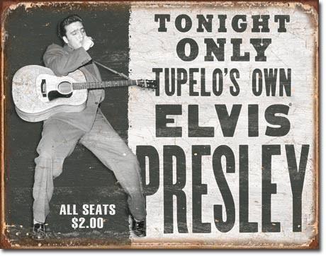 Metallikyltti ELVIS PRESLEY - tupelo's own