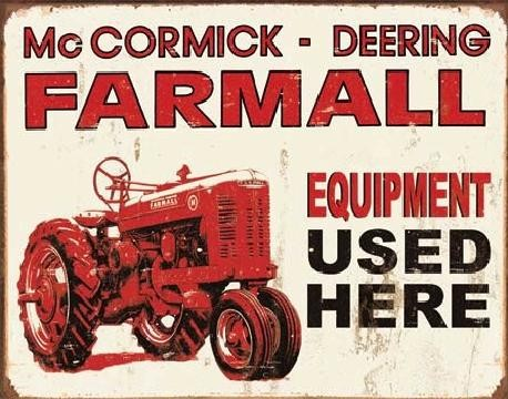 Metallikyltti FARMALL - equip used here