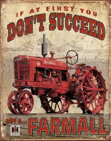 Metallikyltti FARMALL - Succeed