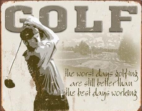 Metallikyltti GOLF - best days