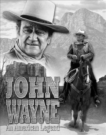Metallikyltti JOHN WAYNE - American Legend