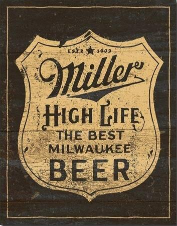 Metallikyltti Miller - Vintage Shield