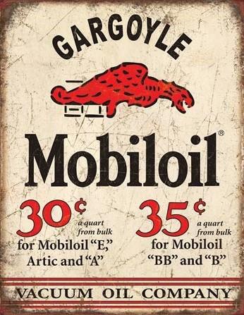Metallikyltti Mobil Gargoyle