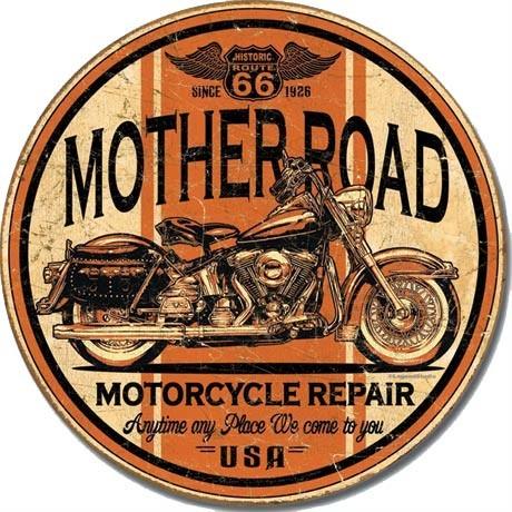 Metallikyltti MOTHER - road repair