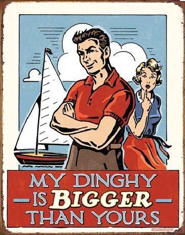 Metallikyltti MY DINGHY - Bigger Than Yours