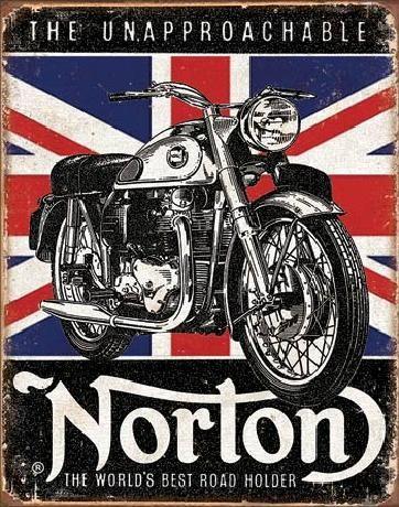 Metallikyltti NORTON - Best Roadholder