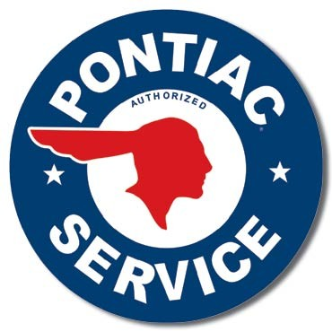 Metallikyltti PONTIAC SERVICE