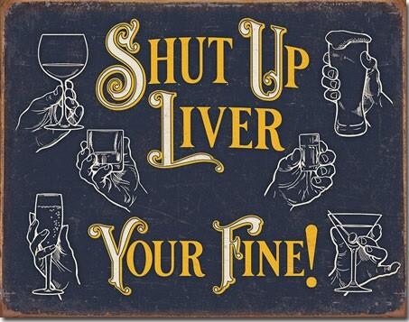 Metallikyltti Shut Up Liver