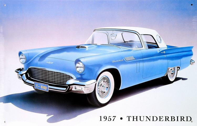 Metalllilaatta 1957 THUNDERBIRD